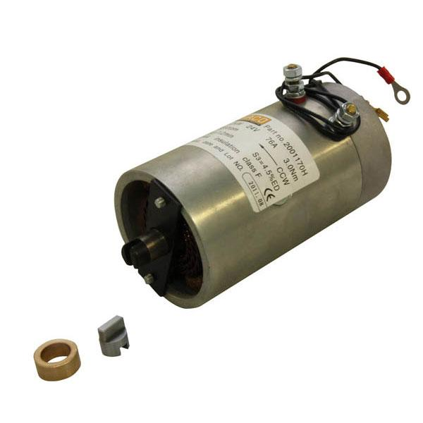 Motor 1,2kW 24V open female counterclockwise HACO