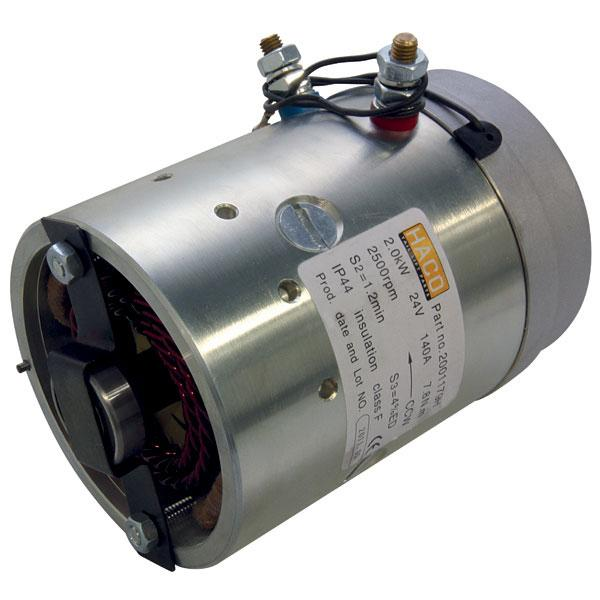 Motor 2kW 24V open female counterclockwise HACO
