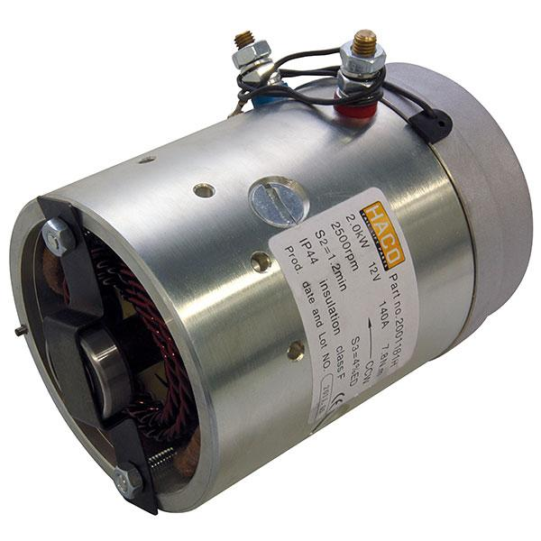 Motor 2kW 12V open female counterclockwise HACO