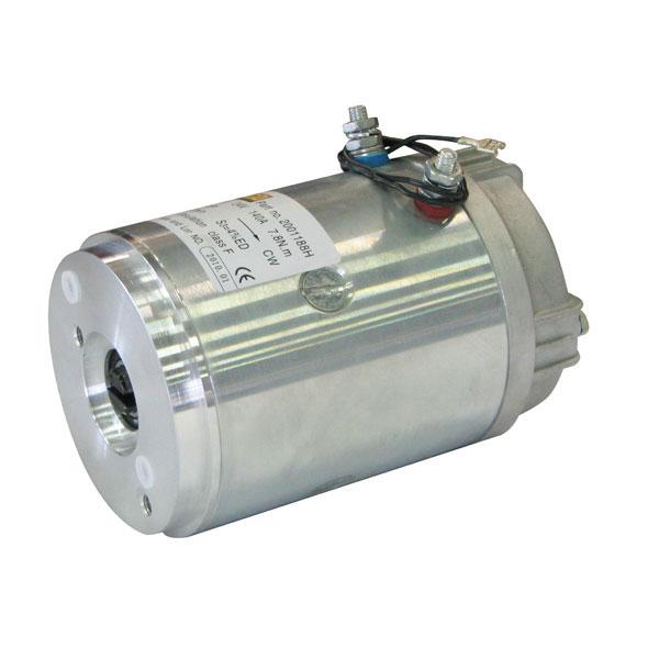 Motor 2kW 24V closed female clockwise HACO