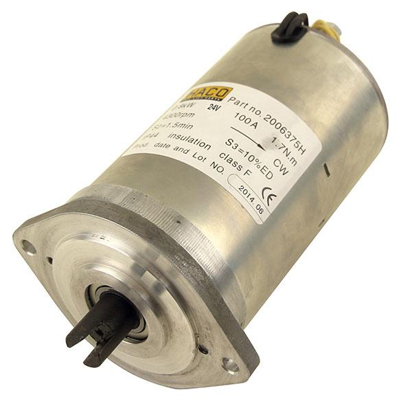 Motor 0,8kW 24V closed female clockwise HACO
