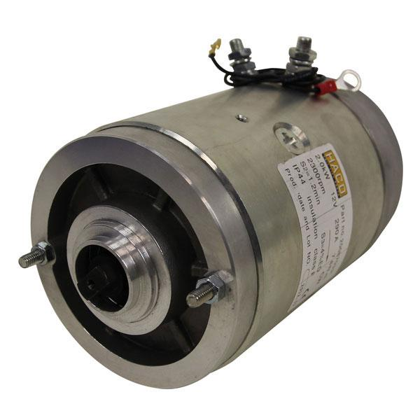 Motor 2kW 12V closed male clockwise HACO