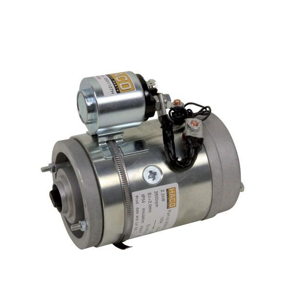 Motor F2 with relay 2kW 12V HACO