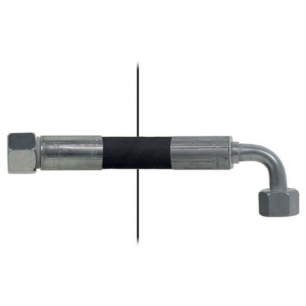 Slang med invändig gänga=12L/gänga =12L 90° - Längd 2500 mm