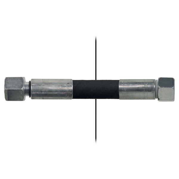 Slang med invändig gänga=12L/gänga =12L - Längd 450mm
