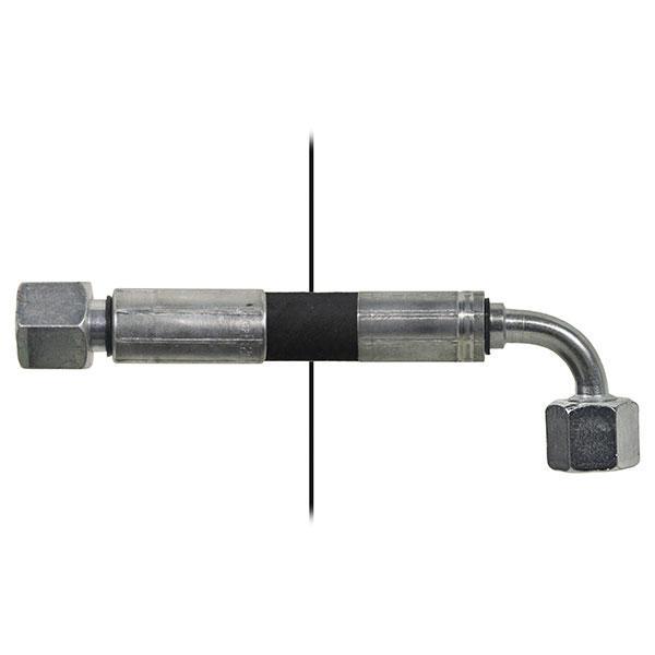 Slang med invändig gänga=10L/gänga =10L90° - Längd 1270mm