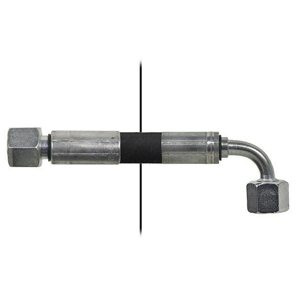 Slang med invändig gänga=10L/gänga =10L90° - Längd 1100mm