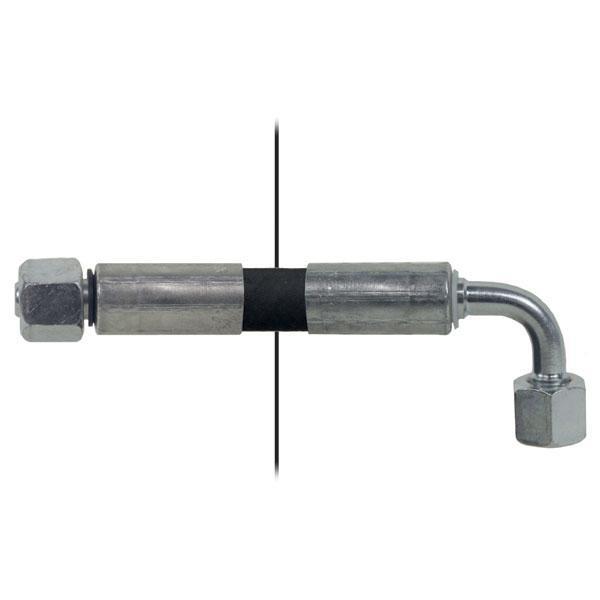 Slang med invändig gänga=8L / gänga =8L-90° Längd 2000mm HACO