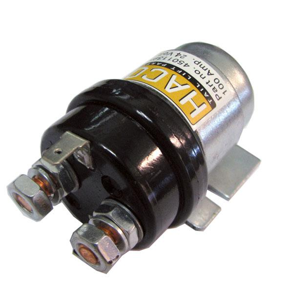 Startsolenoid 24V 100 Amp. HACO