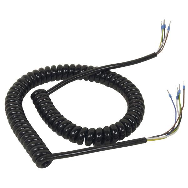Spiralcable 5-wires PUR 3m gutted HACO