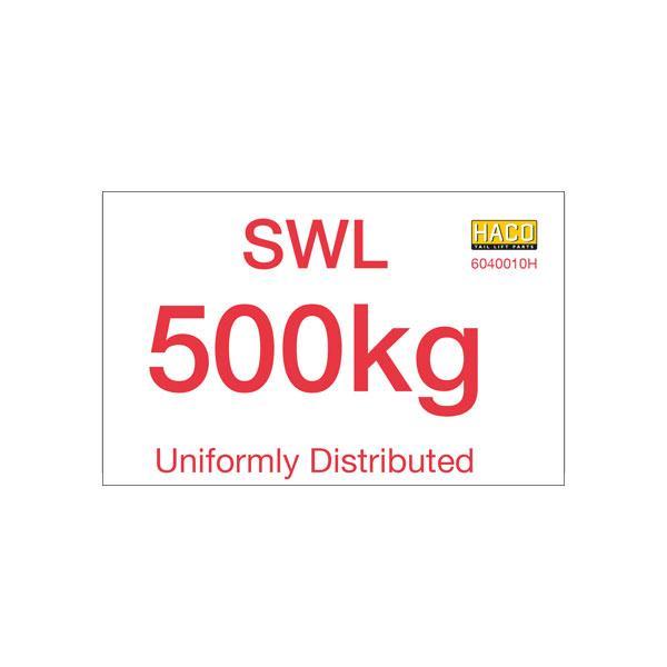 Label SWL 500kg HACO